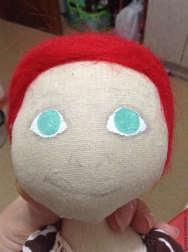 рисуем глаза кукле