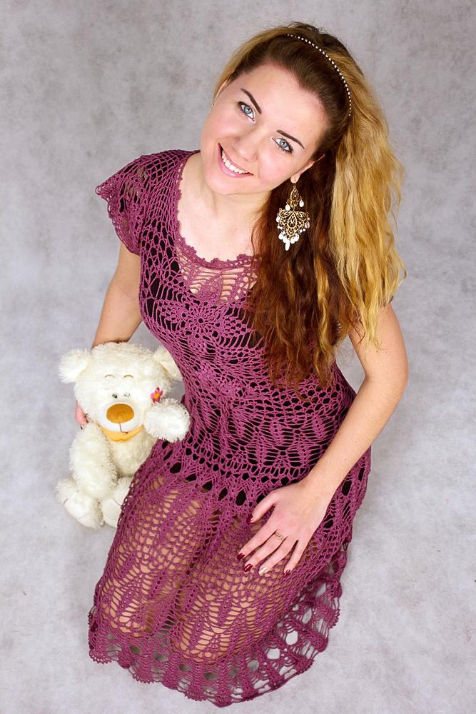 купить платье, вязаное платье крючком
