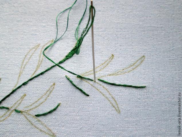 вышивка шелком