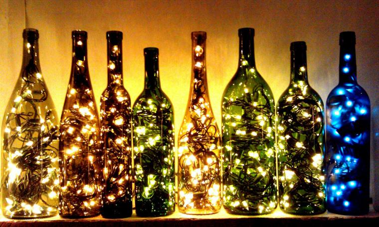 Гирлянда на новый год своими руками из бутылок