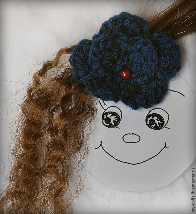 как сделать волосы, прическа для куклы