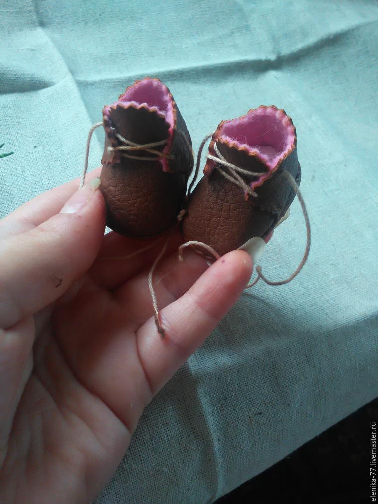 Маленькие ботиночки своими руками