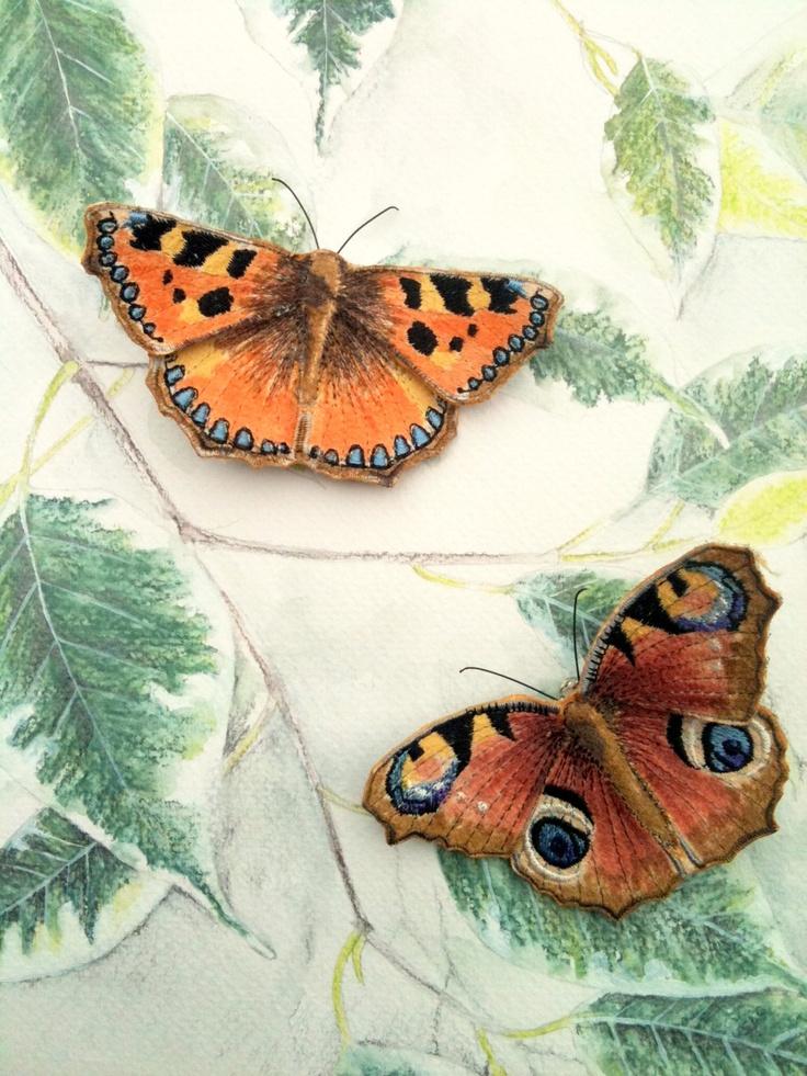 Текстильные шедевры, или Бабочки как источник вдохновения, фото № 12