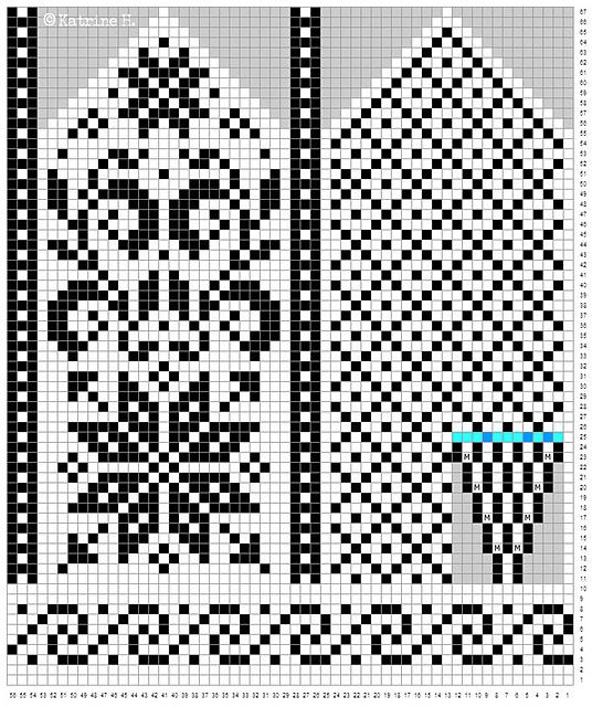 рисунки варежек со схемами
