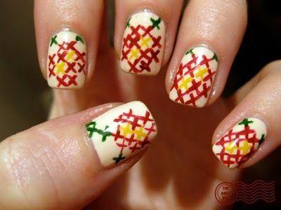 Cross-stitch nails