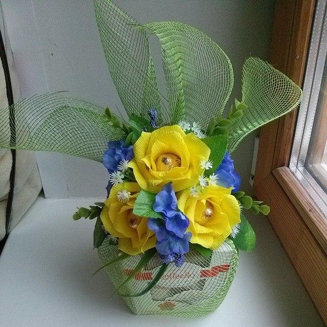 коробка, упаковка, бумажные цветы