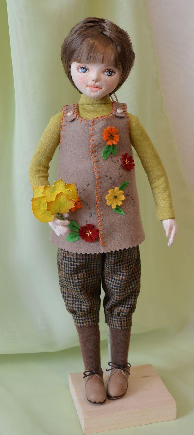 купить недорого, трикотажка, кукла в подарок, осенние листья