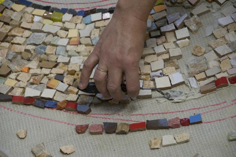 Мастер класс по укладке мозаики из стекла