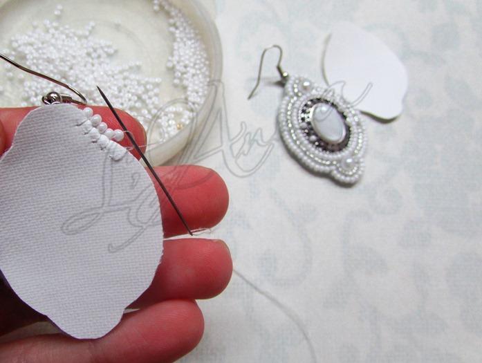 Свадебные серьги своими руками