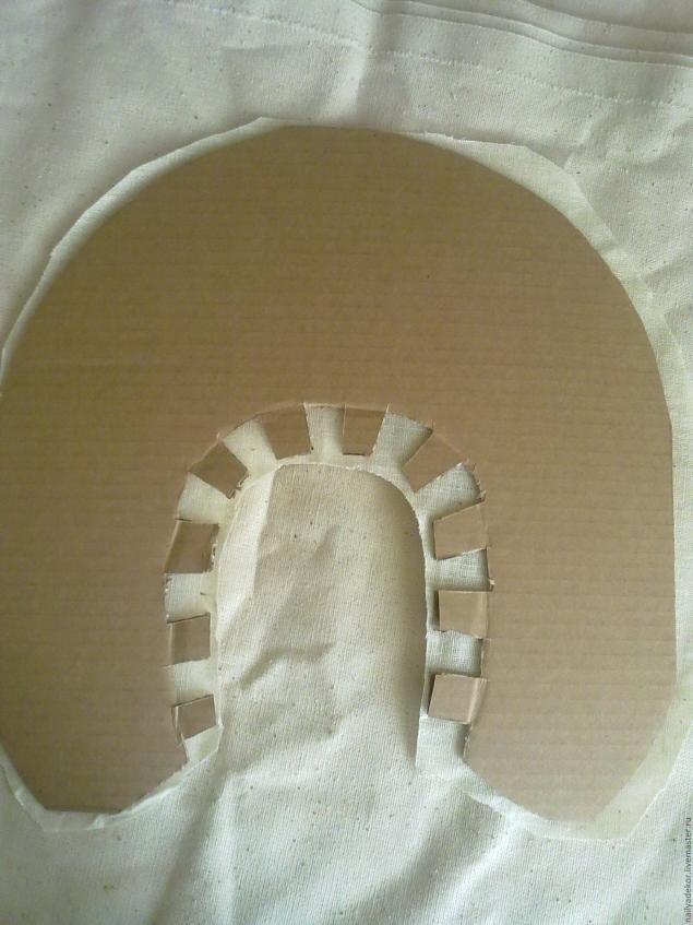 Изготовление венецианской маски с перьями.Техника папье-маше., фото № 10