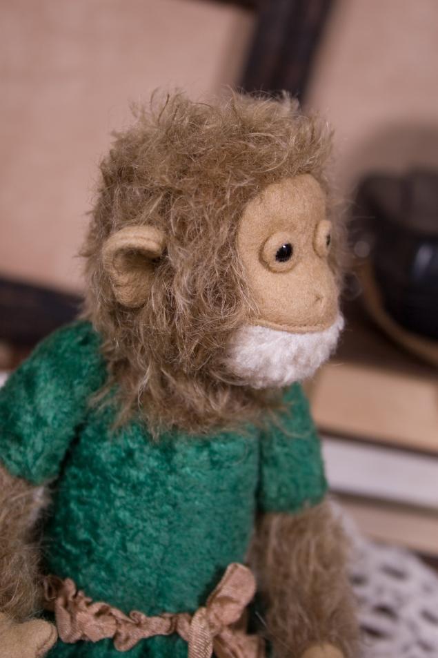 обезьянка, тедди, репродукция