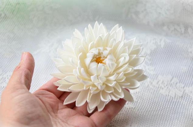 Цветок георгин из фоамирана мастер класс 29