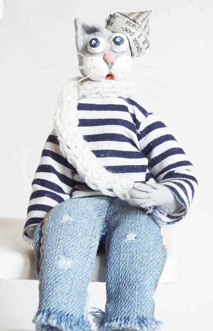 кот моряк, коллекционная игрушка