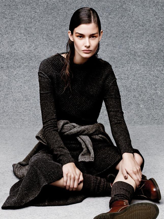 вязаный свитер, зима