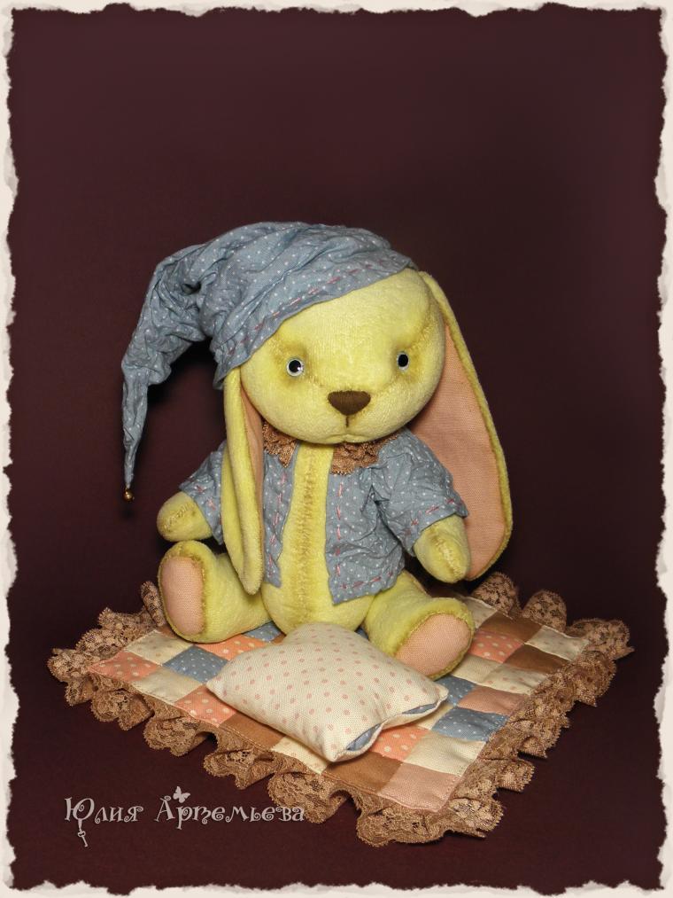детские сны, текстильный зайка
