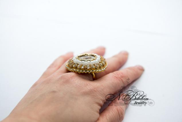 украшения, золотой бисер