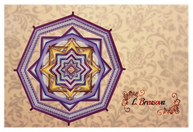 плетение из пряжи, ojos-de-dios