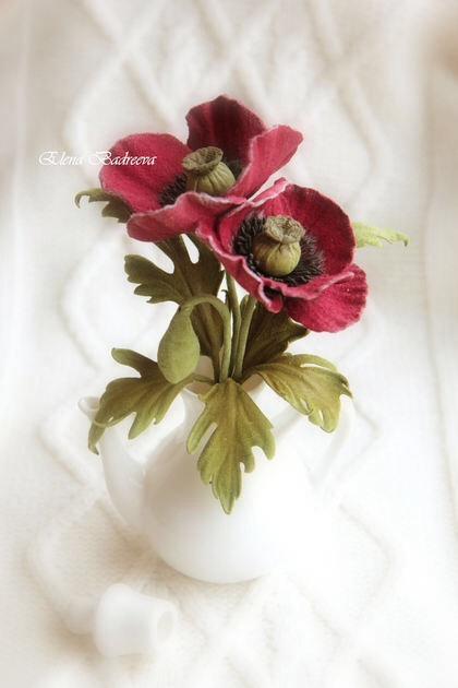 обучение, обучение цветы из кожи, брошь цветок