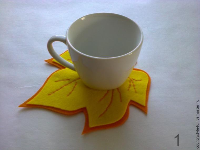 Сделать своими руками подставку под чашку
