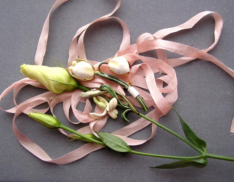 винтажный стиль, брошь-цветок