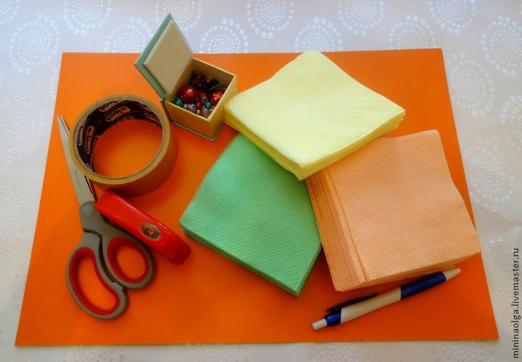 Как сделать картон из салфетки