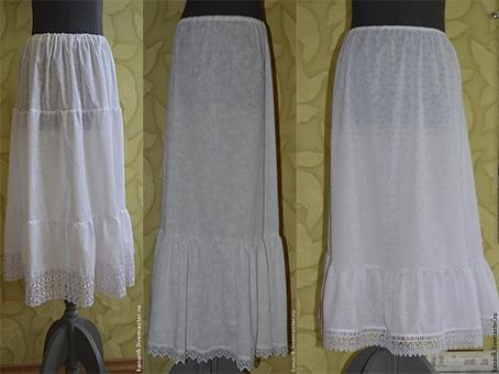 нижняя юбка, варианты нижних юбок