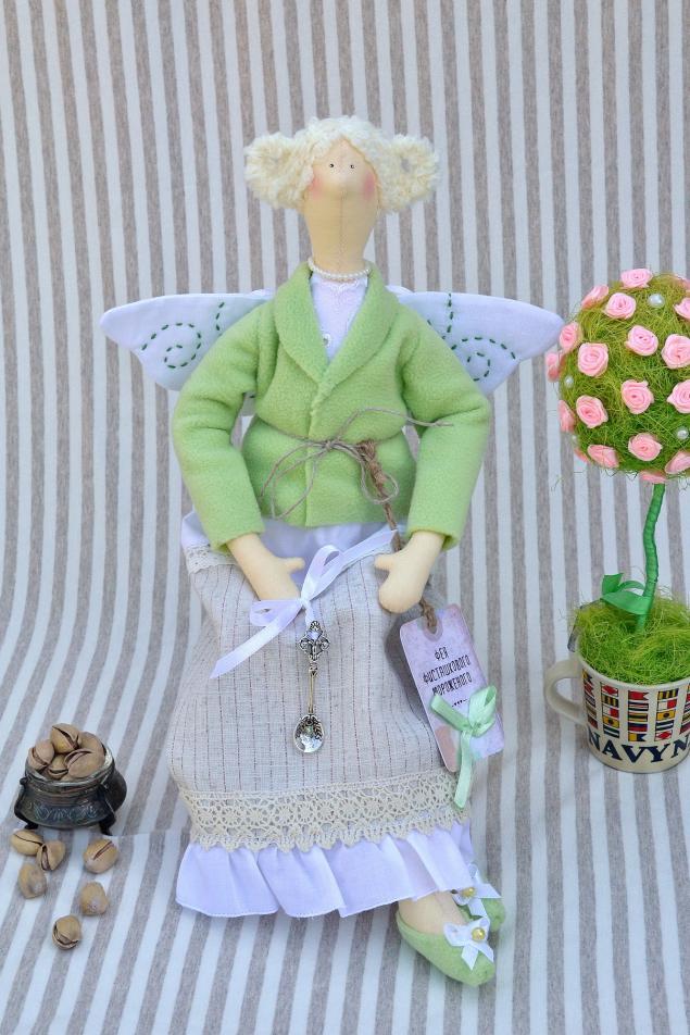 тильда, фисташка, фисташковая, салатовая, тильда ангел, тильда фея, текстильная кукла, интерьерная кукла