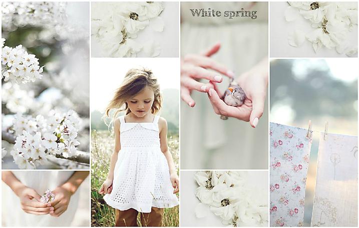 коллаж, весна, белый, нежность, цветы, вдохновение