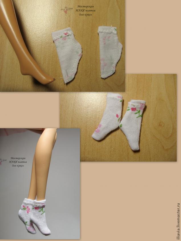 Платье для куклы из носка