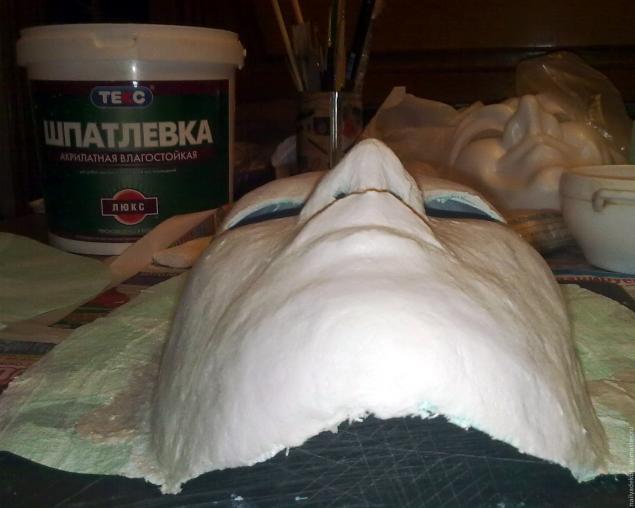 Изготовление венецианской маски с перьями.Техника папье-маше., фото № 5