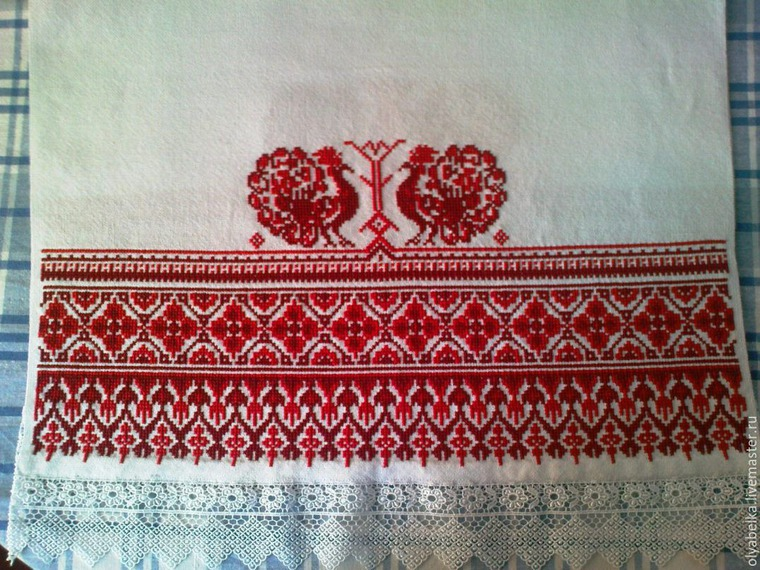 Вышивка русского полотенца 31