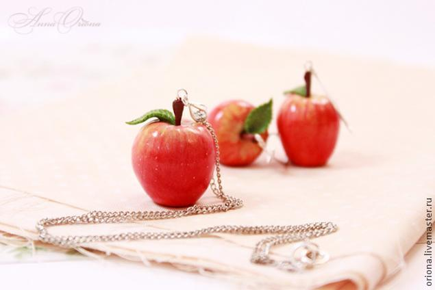 Яблоки из полимерной глины мастер класс
