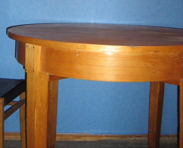 Как обновить старый круглый стол  фото до и после