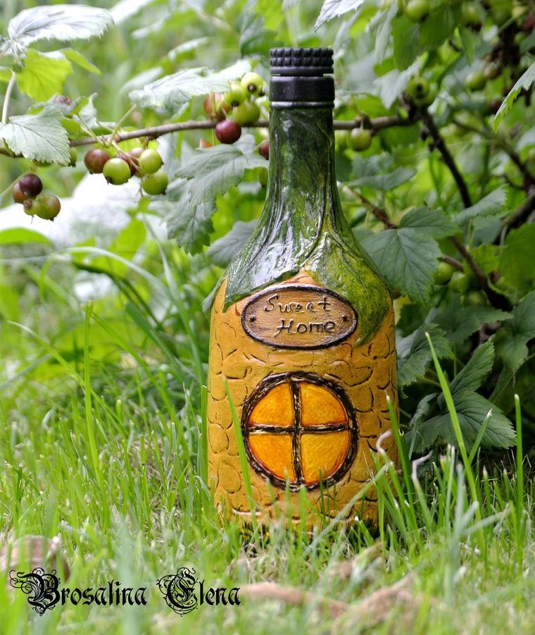 бутылка домик