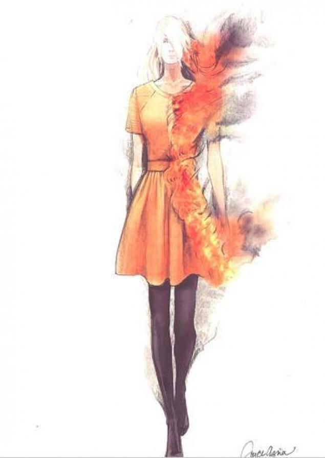 аниме девчонки платье чулки огненные