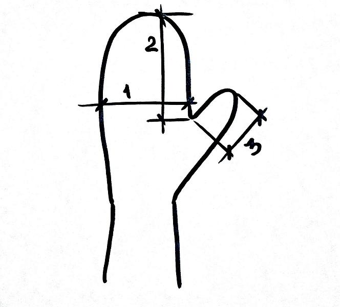 как снять мерки, мерки для варежек, размер руки, размеры варежек