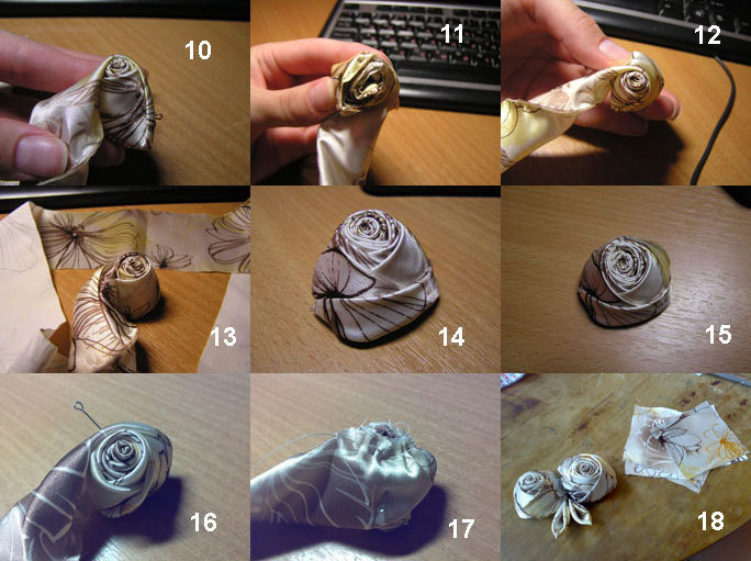 брошь-цветок, творчество, мастер-класс