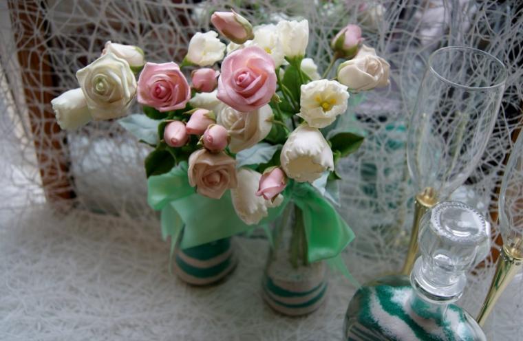 Букетики для декорации свадебного стола....., фото № 5