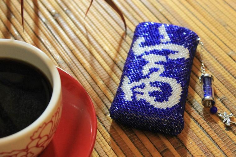 курс онлайн, вязание бисером, вязание, чехол с бисером, чехол для мобильного, вязаная сумочка