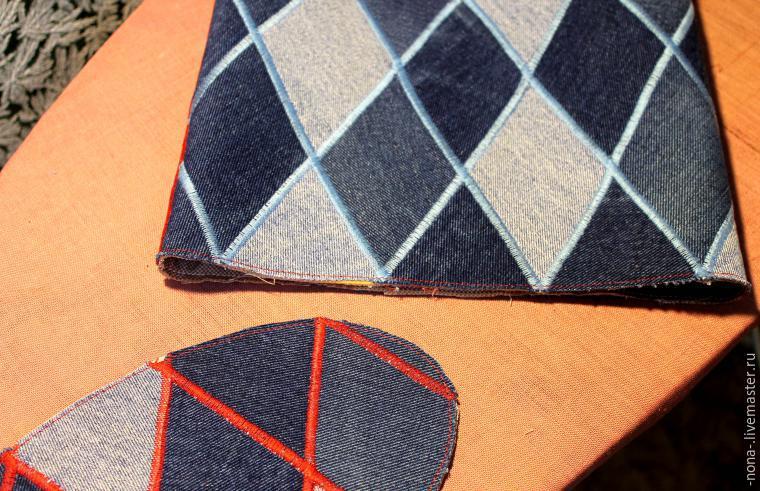 acf080b40a02 Соединяем донышко с основной деталью сумки, наметываем внешний шов  (складываем донышко и сумку подкладкой друг к другу). Прострачиваем вкрай.