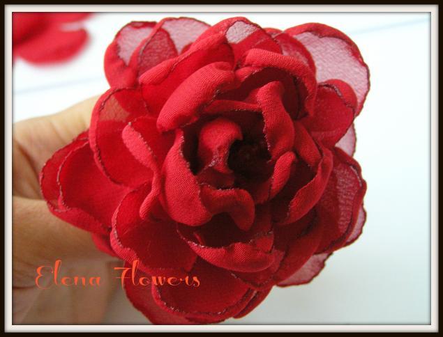Цветы шифона своими руками