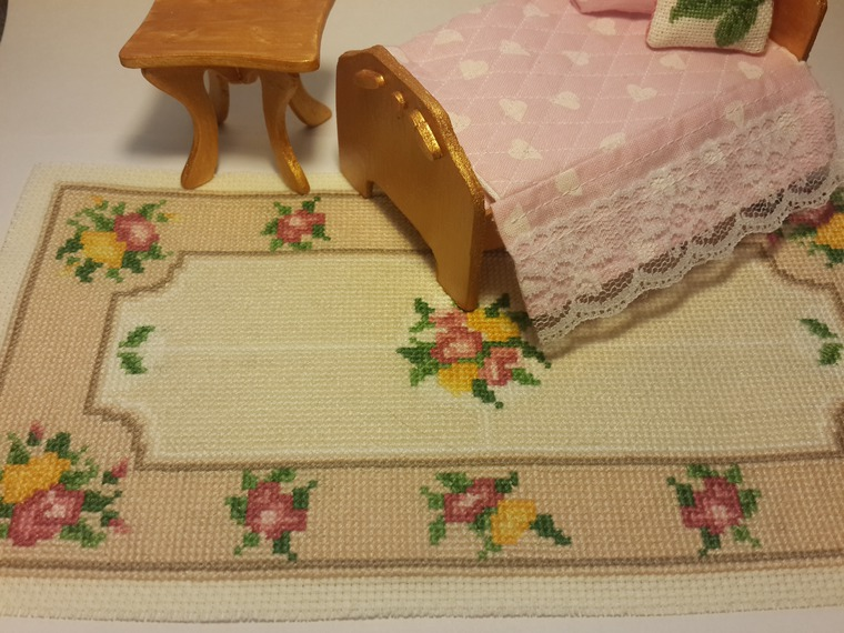 кукольный коврик, вышивка для кукол