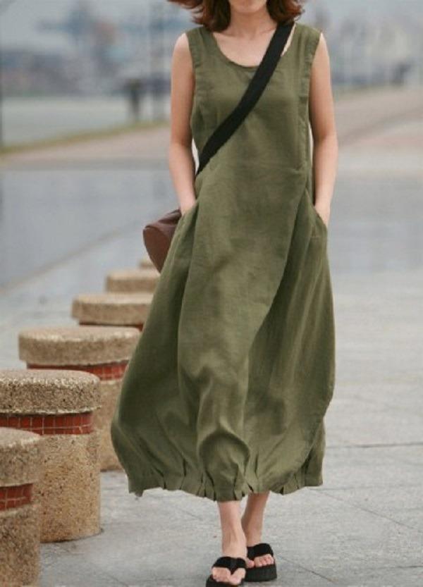 уличным льняное платье в стиле бохо фото зохватят нашу плонету
