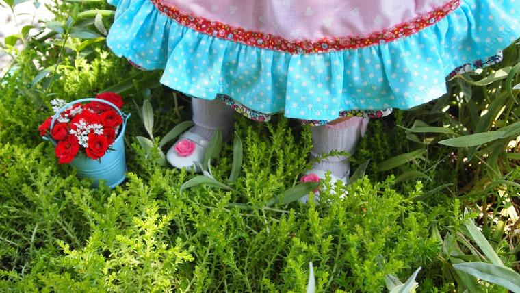 одежда для куклы, розовый