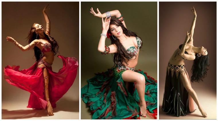 танцы женщин в прозрачных одеждах