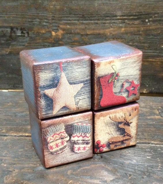 Набор интерьерных кубиков - прекрасный новогодний подарок! Новинка нашей студии!, фото № 3