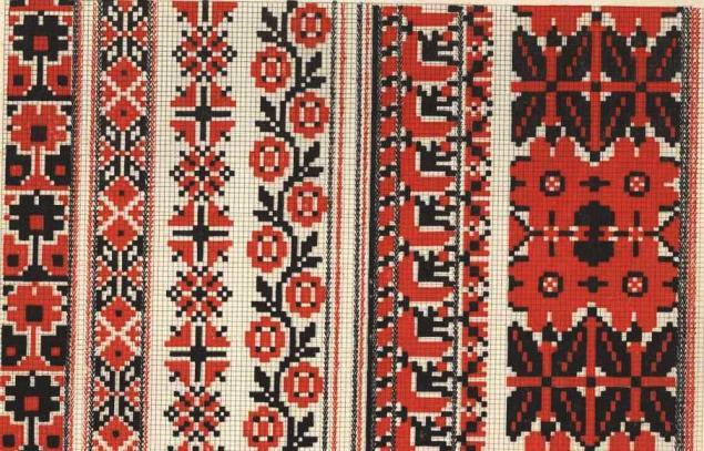 Виды народная вышивка
