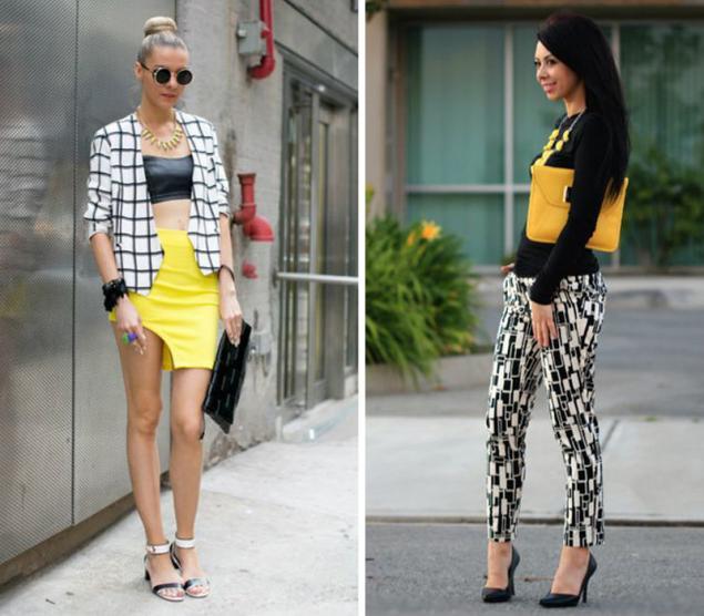 одежда, принт, контрастные сочетания