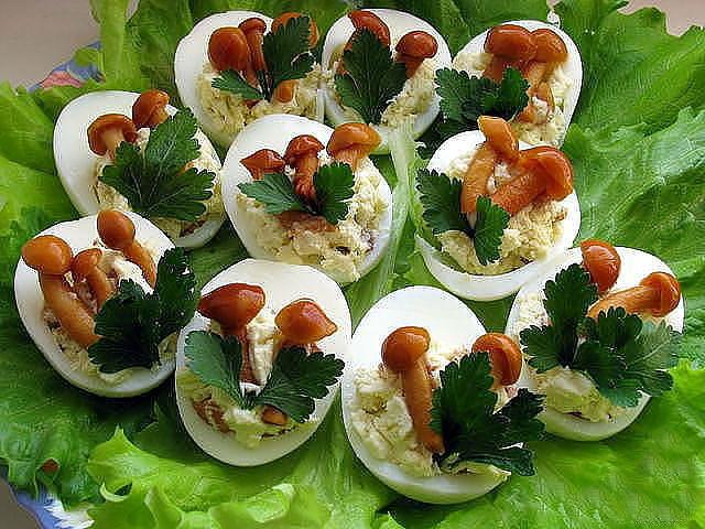 Рецепты красиво оформленных салатов с простые и вкусные