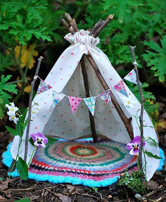 Поделка палатка в лесу 84